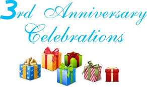 Presents for you on our 3rd anniversary in business!